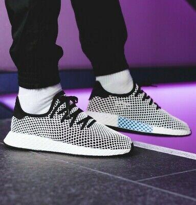 ADIDAS 9.5 Trainers DEERUPT RUNNER 44 Running Shoes CQ2626 Sneaker WHITE MESH 10