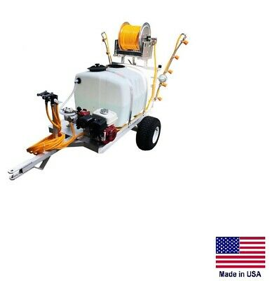Sprayer Commercial - 2 Wheel Trailer - 6 Gpm - 290 Psi - 5.5 Hp 100 Gallon Tank