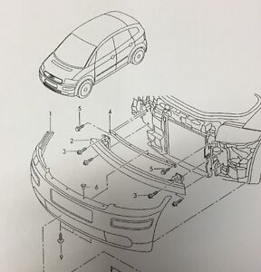 Stoßstange Verkleidung für Stoßfänger Original Audi A2 vorne neu