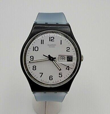 "Swatch 1999 ""Once Again"" GB743 Day/Date Watch 34mm Vintage Swiss Quartz Runs"