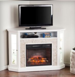 """New In Box TV Stand for TV's up to 52"""" - Fireplace not included"""
