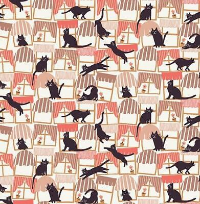 Feline Drive Cat Fabric - HATS FOR CATS - Black Cat Silhouet