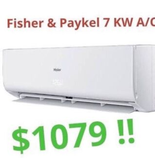 ***NEW*** Fisher & Paykel 7KW Split System Air Conditioner - $1079 !!