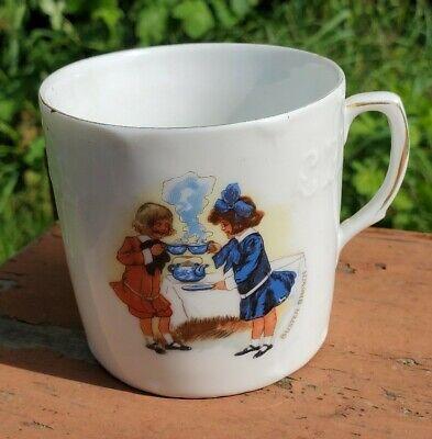 Antique Buster Brown ABC Porcelain Cup / Mug