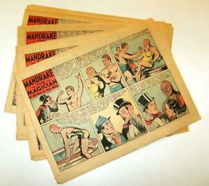 1945 -=- MANDRAKE THE MAGICIAN -=- 50 Sunday halves - by LEE FALK and PHIL DAVIS