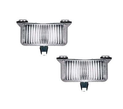 Pair (Left & Right) Park Signal Marker Lights Fits 83-87 Chevy GMC Pickup 915908
