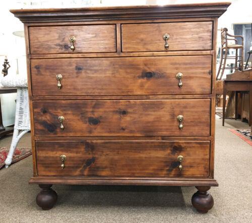 Vintage Pine 4 drawer chest dresser hand made Stephen Von Hohen Bucks County PA