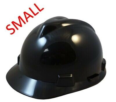 Msa V-gard Small Cap Style Hard Hat With Fas-trac Suspension - Black