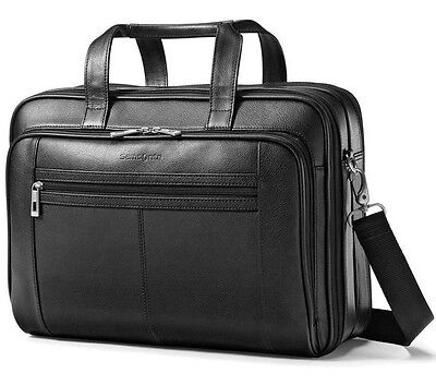 Samsonite Checkpoint TSA Friendly Leather Laptop Business Case 43122