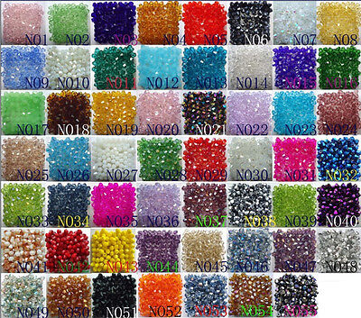 Beads - Free Shipping 100pcs swarovski Crystal 4mm 5301# Bicone Beads