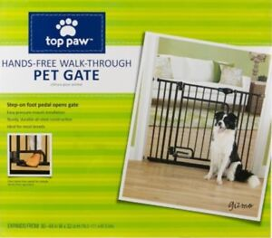 Top Paws Hands Free Walk Through Pet Gate