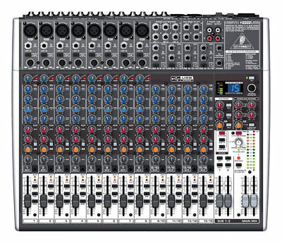 Behringer XENYX X2222USB 22-Channel Mixer Board w/ USB & FX 8 XLR INPUTS NEW!. Buy it now for 306.89
