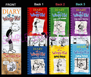3-DIARY-of-a-WIMPY-KID-BOOKMARK-Dog-Days-Book-Marker-Cabin-Fever-the-Ugly-Truth