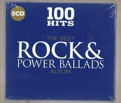 THE BEST ROCK & POWER BALLADS ALBUM cd new 100 HITS VARIOUS ARTISTS - 5 DISC