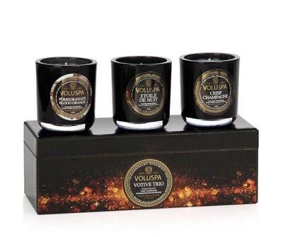 Voluspa Votive Trio Exclusive Collection Candle Set Of  3 ~ 3oz ea ()