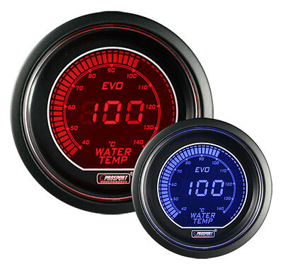 "Evo Series Water Temperature Gauge-Electric 52mm 2 1/16"" Red and Blue in Celsius"
