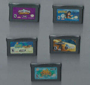 NINTENDO GAME BOY ADVANCE GAMES ~ POWER RANGERS ~ HARRY POTTER