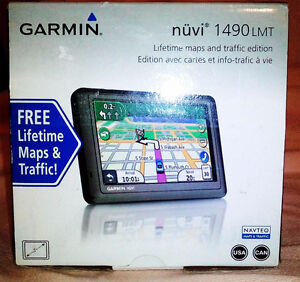 GPS GARMIN 1490LMT,PRESQ NEUF,US-CANADA 2017,MIS A JOUR À VIE,5P