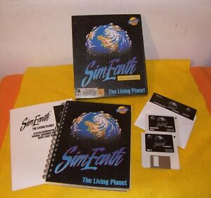 """SIM EARTH - """"The Living Planet"""" Vintage Computer Game"""