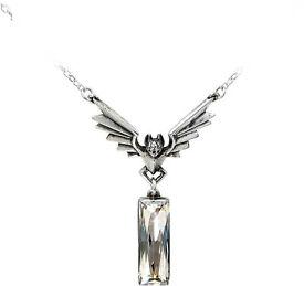 """Alchemy Gothic Deco Gothique """"Chrysler Bat Crystal Pendant"""" (Free P&P)"""