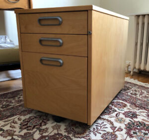 Small filing cabinet with wheels