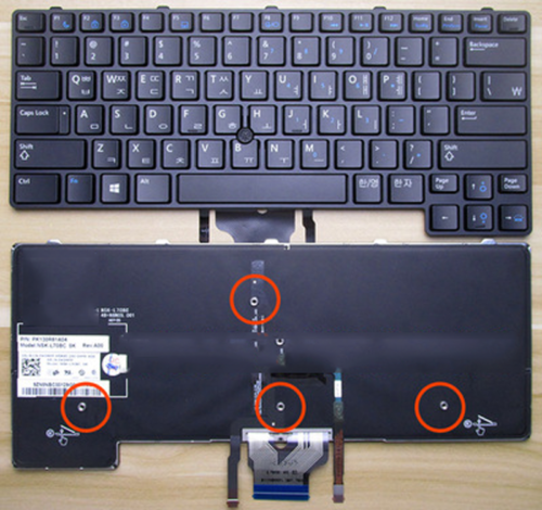 Backlit Keyboard with Pointer for Dell Latitude E6430U Lapto