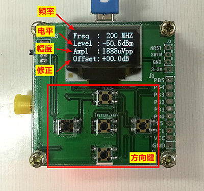 1-500mhz Oled Rf Power Meter -7015dbm 1nw2w Power Set Rf Attenuation Value