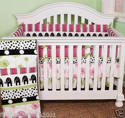 Cotton Tale Designs Hottsie Dottsie 4 pc crib bedding nursery set -