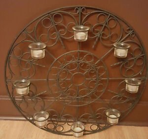 NEW BEAUTIFUL 8 CANDLE WALL HOLDER WITH TEALIGHTS $25