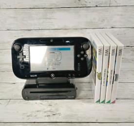 Nintendo Wii U 32GB Black Console Gaming System Bundle