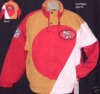 Vintage 90s San Francisco SF 49ers Apex One JACKET NFL ProLine CIRCLE NWT NOS