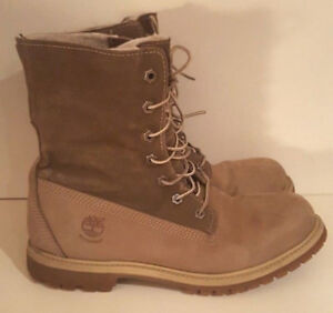 TIMBERLAND Teddy Fleece Fold-Down Women's Taupe Waterproof Boot'