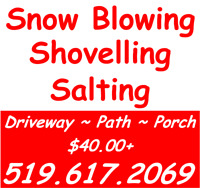 Affordable Snow Removal - Call or Text David 5196172069