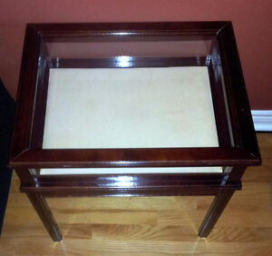 Bombay solid wooden curio display table side table end table London Ontario image 2