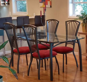 Nordesign Glass Dining Table and Chairs