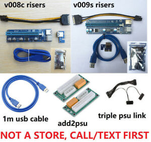 NEW PCIe Pci-E RISERS, Cambridge, call/text FIRST please