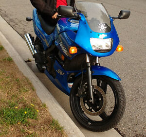 ex500D ninja 2009 candy plasma blue, great starter bike