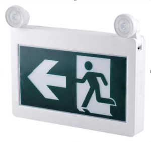 LED EMERGENCY LIGHTS AND RUNNING MAN EXIT SIGN COMBO