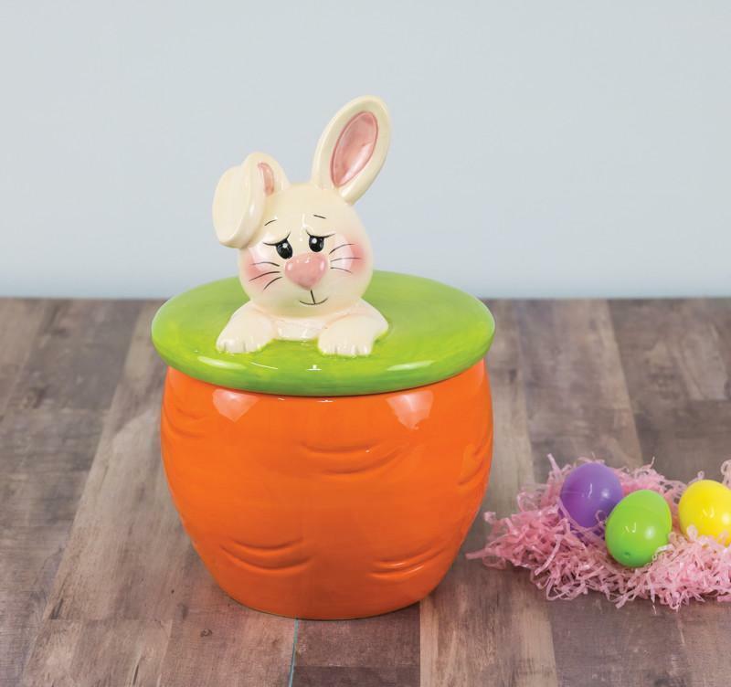 Easter Bunny Ceramic Cookie Jar