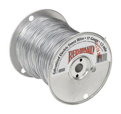 Red Brand Electric Electric Fence Wire 12 Silvergray