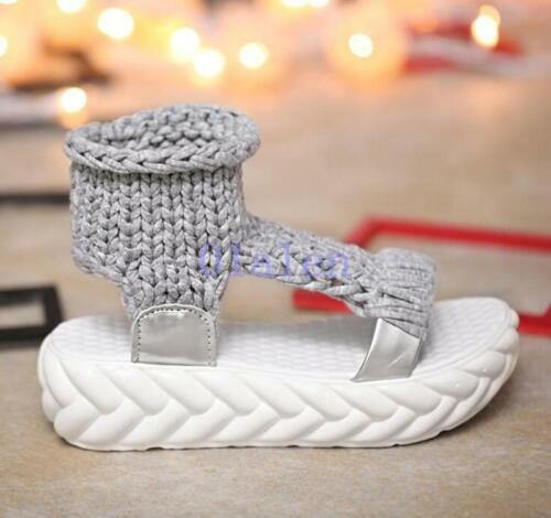 Chic Women/'s Casual Summer Platforms Woven Open Toe Creepers Sandals Shoes 2019