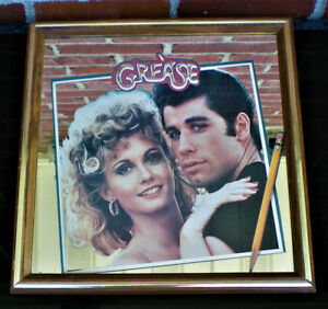 SUMMER SALE * COLLECTIBLE * GREASE Movie MIRROR * Fab Condition