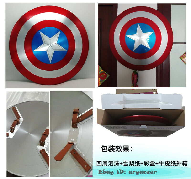 2Captain America 75th Anniversary Avengers Shield Alloy Metal 1:1  Lacquer Bake
