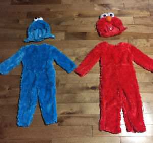 Elmo and Cookie Monster Halloween Costumes
