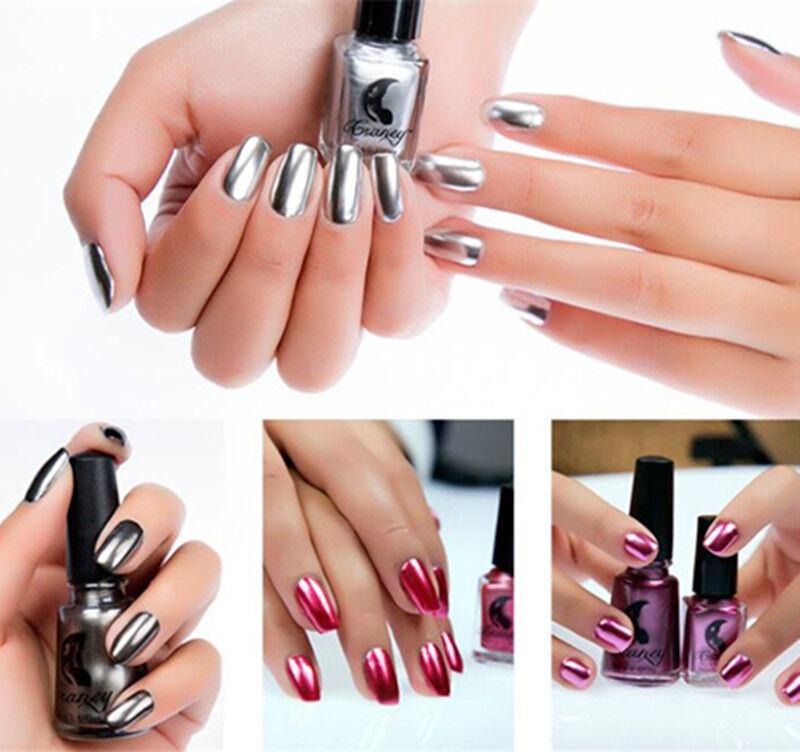 Magic Nail Polish Mirror Effect Chrome Metallic Metal Nail Art ...