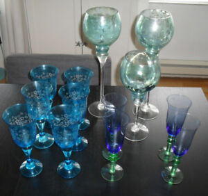 Verres de Vins / Wine glasses (13 items)