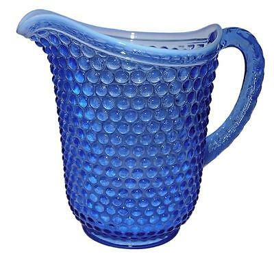 - Imperial Early American Hobnail Hard to Find Blue Opal Pitcher / Jug
