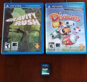 Jeux PS Vita Gravity Rush, Little Deviants, Rayman Legends