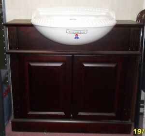 Chatsworth Solid Mahogany Vanity with Sink