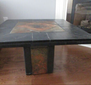 SLATE SIDE TABLE, MADE IN S. AFRICA.